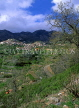 CYPRUS, Troodos Mountain scenery, terraced farmed land and AGROS village, CYP209JPL