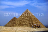 EGYPT, Giza, the pyramids and camel riders, EGY152JPL