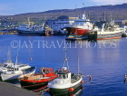FAROE ISLANDS, Streymoy, Torshavn, waterfront, and boats, FAR68JPL