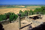 FRANCE, Languedoc-Roussillon, (near Beziers), ancient stone houses and countryside , FRA997JPL
