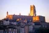FRANCE, Languedoc-Roussillon, ALBI, town view with Cathedral, at sunset, FRA866JPL