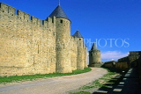 FRANCE, Languedoc-Roussillon, CARCASSONNE, medieval walls of fortress, FRA911JPL