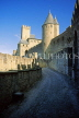 FRANCE, Languedoc-Roussillon, CARCASSONNE, medieval walls of fortress, FRA912JPL