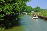 FRANCE, Languedoc-Roussillon, Canal Du Midi near Carcassonne, pleasure barges cruising, FRA994JPL