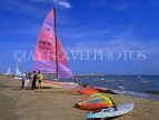 FRANCE, Languedoc-Roussillon, LA GRANDE MOTTE, beach and sailboats, watersports, FRA406JPL
