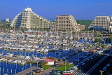 FRANCE, Languedoc-Roussillon, LA GRANDE MOTTE, resort centre, hotels and marina, FRA548JPL