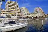 FRANCE, Languedoc-Roussillon, LA GRANDE MOTTE, resort centre, hotels and yachts, FRA552JPL