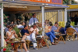 FRANCE, Languedoc-Roussillon, LA GRANDE MOTTE, resort centre, waterfront cafes, FRA593JPL