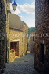 FRANCE, Languedoc-Roussillon, MINERVE, old town narrow cobbled street, FRA935JPL