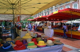 FRANCE, Provence, Cote d'Azure, MONACO, Monte Carlo, Old Town market, hat stall, FRA355JPL