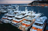 FRANCE, Provence, Cote d'Azure, MONACO, Monte Carlo, harbour and marina, luxury yachts, FRA2395JPL