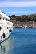 FRANCE, Provence, Cote d'Azure, MONACO, harbourfront and luxury yacht, FRA2507JPL