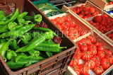 FRANCE, Provence, Cote d'Azure, NICE, Old Town, market Cour Saleya, tomatoes, chillies, FRA2312JPL