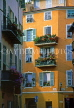 FRANCE, Provence, Cote d'Azure, NICE, Old Town house balconies, by Place Charles Felix, FRA321JPL