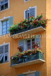 FRANCE, Provence, Cote d'Azure, NICE, Old Town house balconies, near Place Charles Felix, FRA323JPL