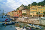 FRANCE, Provence, Cote d'Azure, NICE, Port and Bassin Lympia, old buildings on Quai Lunel, FRA2162JPL