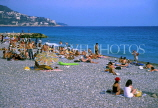 FRANCE, Provence, Cote d'Azure, NICE, beach and sunbathers, FRA475JPL