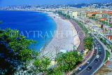 FRANCE, Provence, Cote d'Azure, NICE, panoramic coastal view (from Castle Hill Park), FRA292JPL