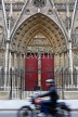 France, PARIS, Notre Dame Cathedral, architectural detail and doorway, FRA2582JPL