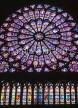 France, PARIS, Notre Dame Cathedral, famous Rose stained glass window, FRA1268JPL