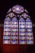 France, PARIS, Notre Dame Cathedral, stained glass window, FRA2186JPL