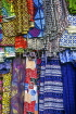 GAMBIA, Bengdulla market, crafts, Tie & Dye cloths for sale, GAM956JPL
