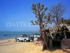 GAMBIA, beach, four-wheel drive jeeps and guides, tourists on safari, sunbathing, GAM870JPL