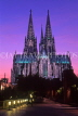 GERMANY, Cologne, Cologne Cathedral (Dom), dusk view, GER974JPL