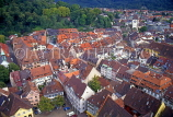 GERMANY, Freiburg im Breisgau, town view and rooftops, GER991JPL