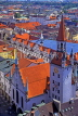 GERMANY, Munich, city view, roof tops, GER756JPL