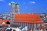 GERMANY, Munich, city view with Frauenkirche (Cathedral), GER748JPL