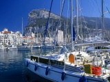 GIBRALTAR, The Rock, view from Marina Bay, GIB313JPL