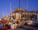 GIBRALTAR, The Rock, view from Marina Bay (late afternoon), GIB302JPL