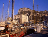 GIBRALTAR, The Rock, view from Marina Bay (late afternoon), GIB305JPL