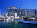 GIBRALTAR, The Rock and yachts in Marina Bay, GIB318JPL