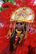 GRENADA, Carnival, carnival parade costumed dancer, GRE323JPL