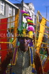 GRENADA, Carnival, carnival parade costumed dancer, GRE326JPL