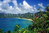 GRENADA, Grand Anse coast, panoramic view, GRE330JPL