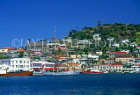 GRENADA, St George's, harbour and town view from sea, GREJPL