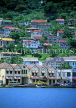 GRENADA, St George's, hill top houses, coastal view, GRE307JPL
