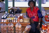 GRENADA, roadside spice stall and vendor, GRE431JPL