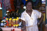 GRENADA, roadside spice stall and vendor, GRE433JPL