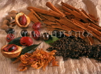 GRENADA, spices of Grenada, Cinnamon sticks, clove, nutmeg and mace, GRE456JPL