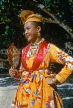 GUADELOUPE, Basse-Terre, woman in traditional costume, dressed for festival, CAR704JPL