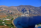 Greek Islands, AMORGOS, Egiali, panoramic view of bay, GIS671JPL