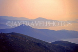 Greek Islands, AMORGOS, mountain scenery at dawn, GIS678JPL