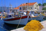 Greek Islands, KEPHALONIA, Fiscardo, harbourfront and fishing boats, GIS525JPL