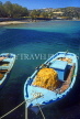 Greek Islands, KOS, Kamari, fishing boat with net, GIS1047JPL