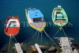 Greek Islands, KOS, Kardamena, three fishing boats, GIS1239JPL