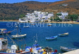 Greek Islands, SIPHNOS, Pharos, village and seascape with fishing boats, GIS726JPL